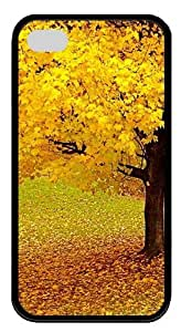 Autumn Forest TPU Black Case for iphone 4S/4