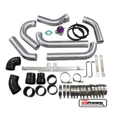(Bar & Plate Intercooler Kit + BOV For 05-07 Mazdaspeed6 2.3L Turbo MS6)