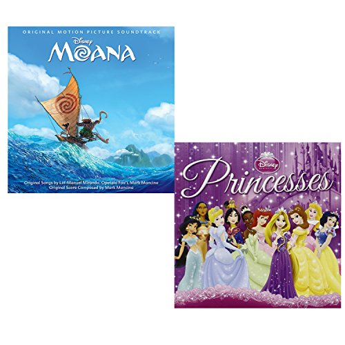 Moana (Soundtrack) - Disney Princesses (Greatest Hits) - Walt Disney 2 CD Album (Movie Hits Cd)