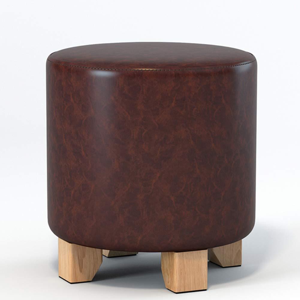 11x11x14inch Chaise de Maquillage Ronde WEHOLY Tabouret de canap/é pi/ètement en Similicuir-c 29x29x35cm Repose-Pieds en Bois