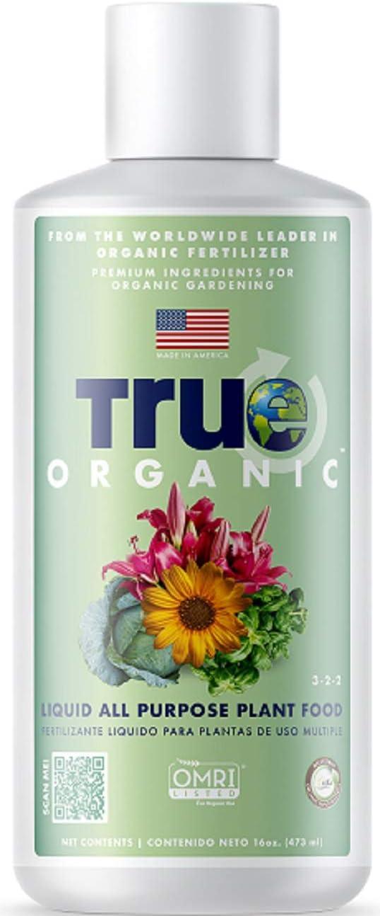TRUE Organic - All Purpose Liquid Plant Food 16oz - CDFA, OMRI, for Organic Gardening…