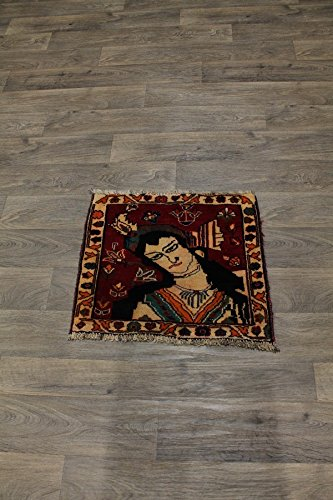 Admin Rugs Pictorial Small Square Wool Abadeh Shiraz Persian Style Rug Oriental Area Carpet - Rugs Shiraz Persian