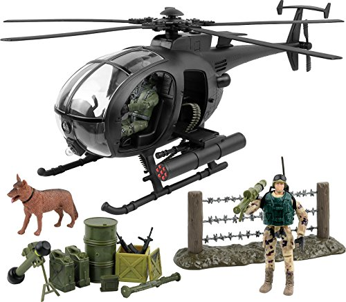Old Navy Dog - Click N' Play Military Attack Combat Helicopter 20 Piece Play Set With Accessories.