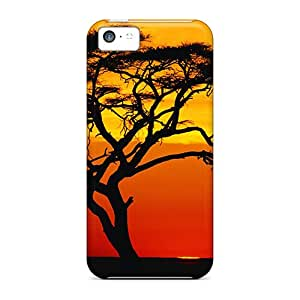 Premium Durable Sunset On An Acacia Tree Fashion Iphone 5c Protective Cases Covers