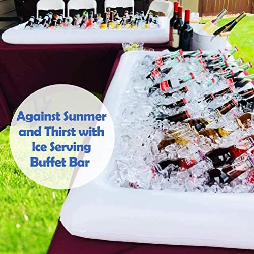 Taoke Aufblasbare Serving Bar Buffet Kühler Mit Ablassschraube - Aufblasbare Kaltes Getränk Lagercontainer Salat Picknick EIS Essen Server - Pool-Party Supplies dongdong