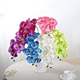 Yantu Artificial Butterfly Orchid Silk Flower Home Wedding Decor Phalaenopsis Bouquet (6color)