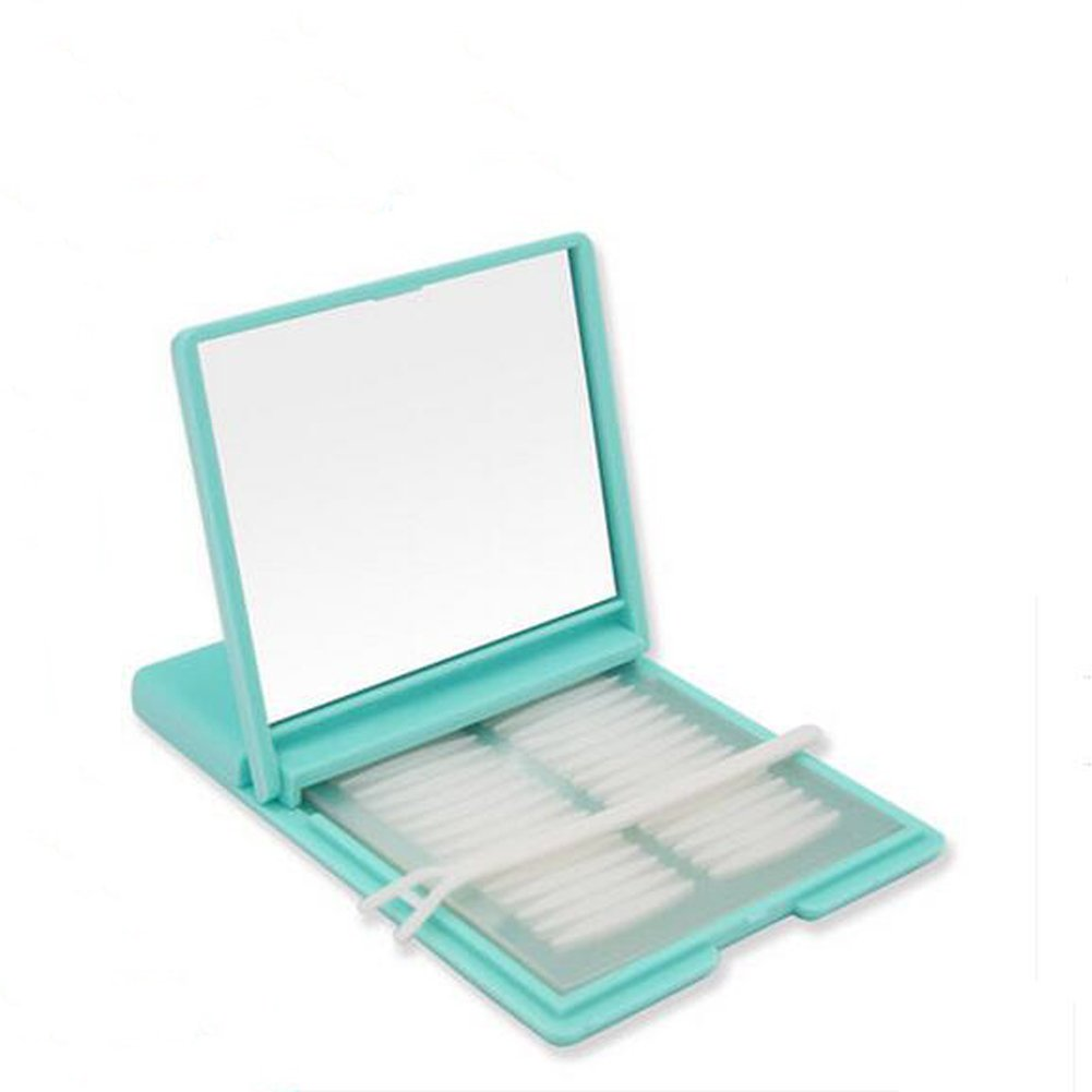480pcs+520pcs Double Eyelid Sticker With A Box And Y Fork(Only One Side is Sticky)- Solf Plastic Self-Adhesive Invisible Tapes Stickers(Pink Box) Elandy