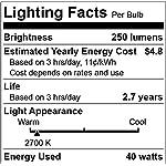 Edison Light Bulbs, 40Watt Antique Vintage Light Bulbs, Dimmable, E27/E26 Base, Warm White, 110v - 130v, T45 Tube Shape… 7