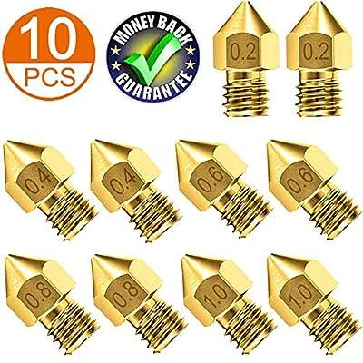 Upgrade 3D Printer Nozzles | Circular Holes 3D Printer Nozzle | High Abrasion Resistance 3D Printer nozzles | Brass Nozzle Perfect Fit 3D Printer Makerbot Creality CR-10