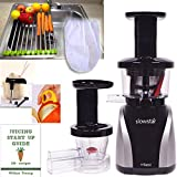 SlowStar Silver Juicer Accessory Pack3! +Folding Drain Rack +Nut Milk Bag +Juicing eBook,recipes +Cocodrill Coconut Tool +Citrus Peeler -Tribest Slow & Mincer (Silver SW-2020 + Pack3 Accessories)