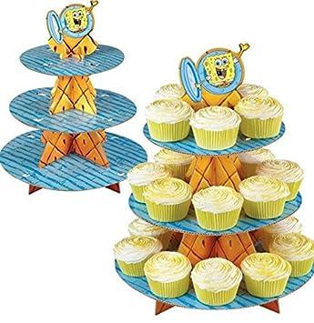 Spongebob Schwammkopf Party Kuchen Etagen Stander Cupcake Fallen
