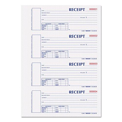 REDS1654NCR - Rediform Hardcover Numbered Money Receipt Book (Ledger Rediform Business)