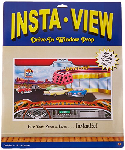 [Drive-In Insta-View Party Accessory (1 count) (1/Pkg)] (50s Themed Costumes)