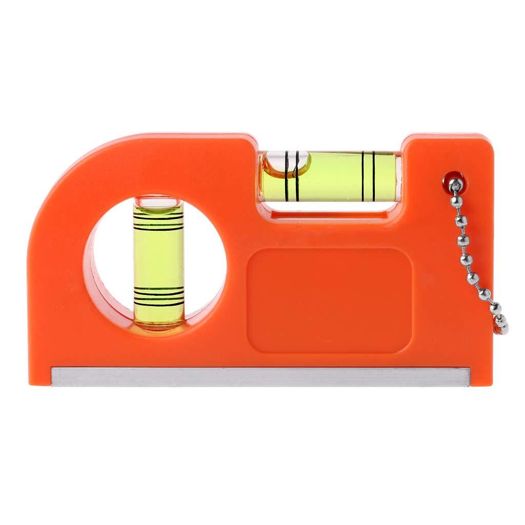 Mini llavero regla de nivel con base magnética V rayas nivel ...