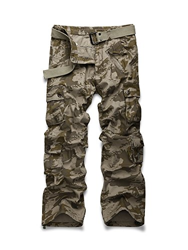 Men's Outdoor Woodland Military Cargo Pant #022 Wave Camo 38