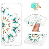 Moto G5 Plus Case, Cushioned 4 Reinforced Corners Full Body Protection Soft TPU Cover Transparent Enhanced Grip Protective Defender Shell Shock-Absorption Bumper for Motorola Moto G5 Plus, Butterfly