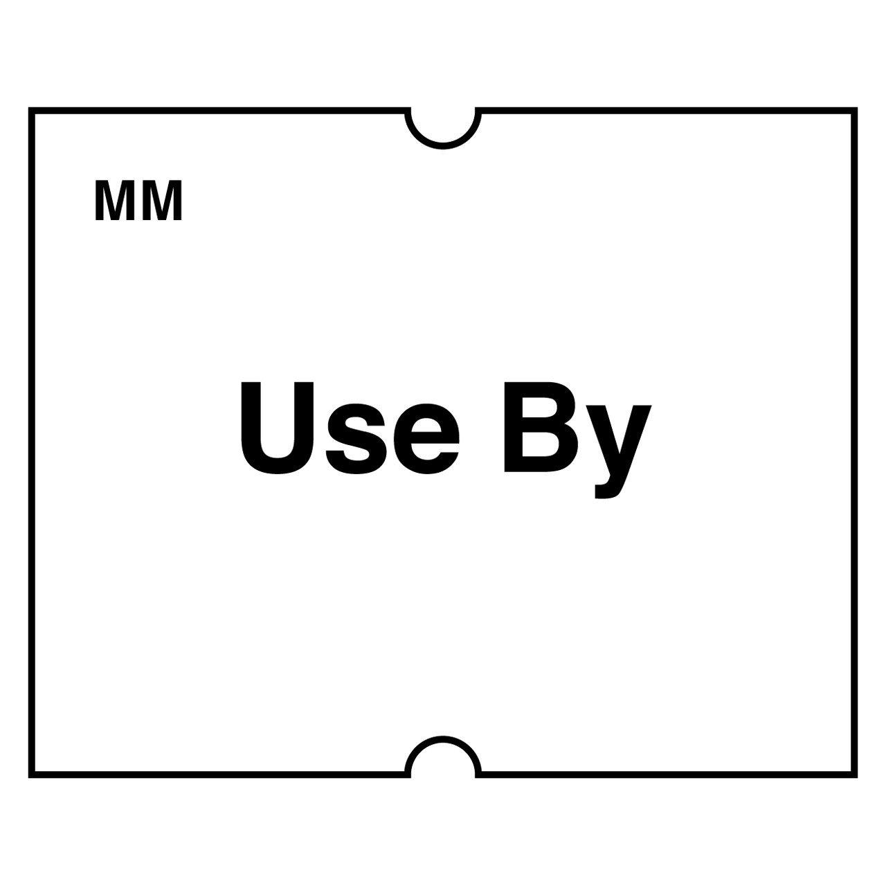 DayMark Date Coder''USE BY'' Removable Label, For DM4 SpeedyMark Express 20 2-Line Marking Gun, White (6,000 labels)