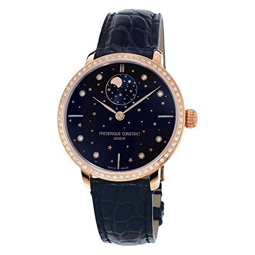Ladies' Frederique Constant Slimline Moonphase Stars Manufacture Watch FC-701NSD3SD4