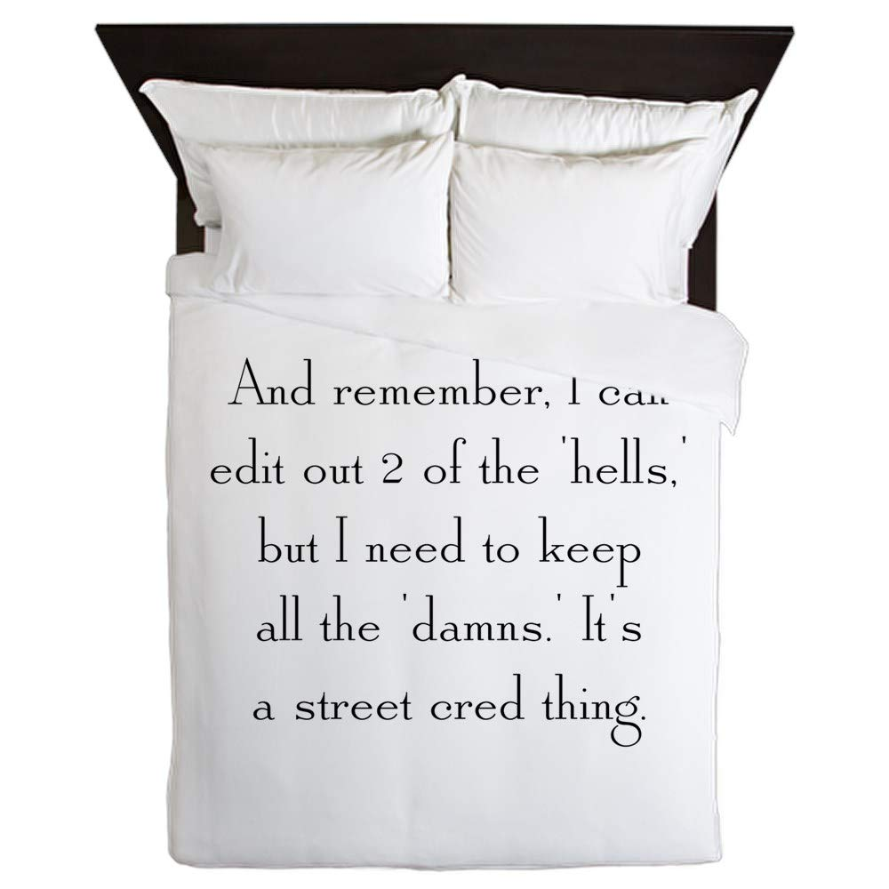 CafePress Street Cred Thing Queen Duvet Cover, Printed Comforter Cover, Unique Bedding, Microfiber