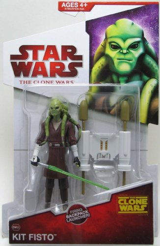 Star Wars The Clone Wars Kit Fisto  CW05 - 3-3/4 Inch Scale Action Figure