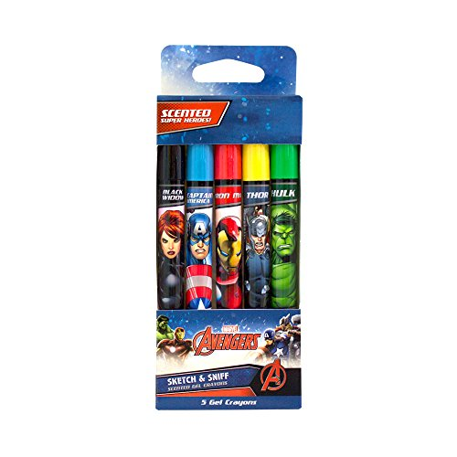 Scentco Marvel Avengers Scented Gel Crayons 5-Pack