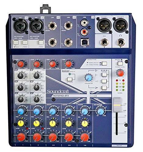 (Soundcraft Notepad-8FX 8-Channel Live Sound/Recording Mixer+Effects+USB 4 Mac/PC)