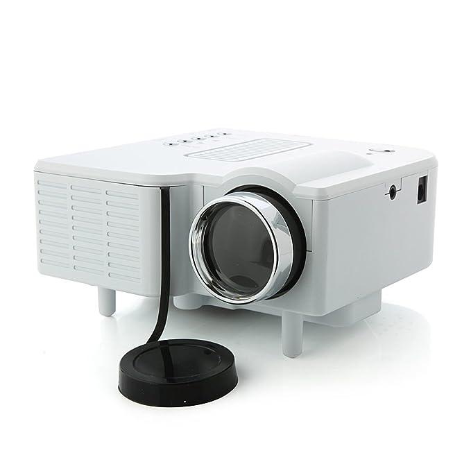 MegaTek® 24W Mini Proyector portátil Mini Multimedia de LCD imagen ...