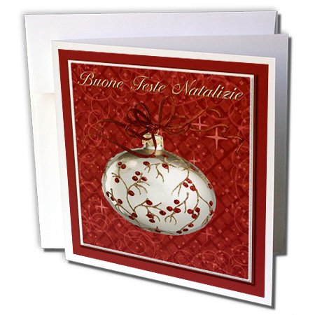 buone feste natalizie merry christmas in italian greeting card 6 x 6 inches