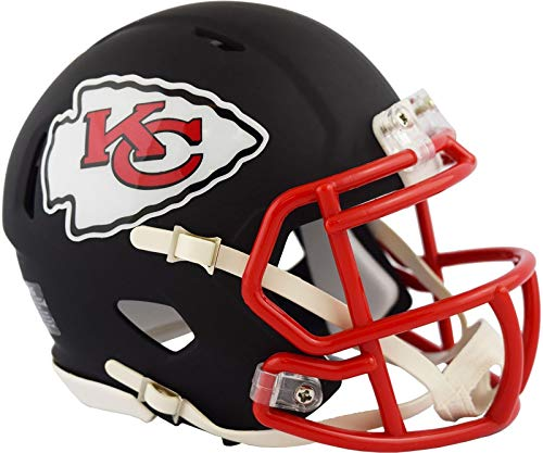 (Kansas City Chiefs NFL Black Matte Alternate Speed Mini Football Helmet)
