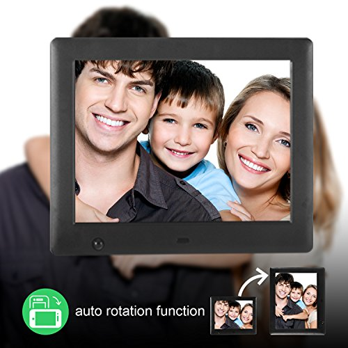 Apzka 8-Inch HD Digital Photo Frame with Motion Sensor & Auto-rotate ...