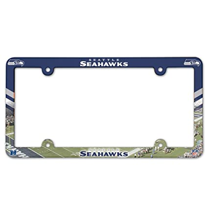 Amazon.com : WinCraft Seattle Seahawks Full Color License Plate ...