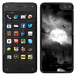 LECELL--Funda protectora / Cubierta / Piel For Amazon Fire Phone -- Luna Drácula Castillo de Halloween Bat --