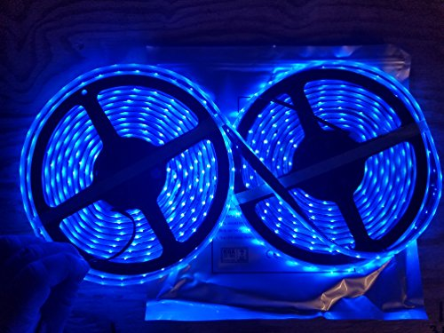 Marine Submersible LED Light Strip 12V 32FT Blue, LED Rope Lights, Waterproof Led Lights,