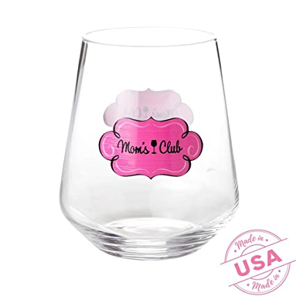 3d1ff29d086 Drinking Divas 'Mom's Wine Club' Wine Glass - Stemless Glassware Tumbler-  Gift for Mother's Day