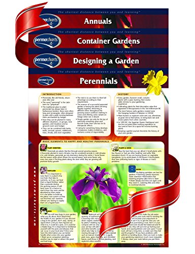 Spring Gardening Reference Guide Bundle - 4 laminated Gardening Charts by Permacharts (Planting Chart compare prices)