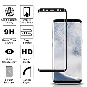 Samsung Galaxy S8 Tempered Glass Screen Protector,[2-Pack]-9H Hardness,Anti-Fingerprint,Ultra-Clear, Full Coverage,Bubble Free Screen Protector for Galaxy S8 from AVIGOR