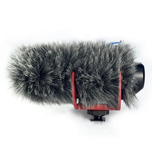 Micover Slipover Fur Windscreen for RODE VideoMic Go, - Micover Windscreen