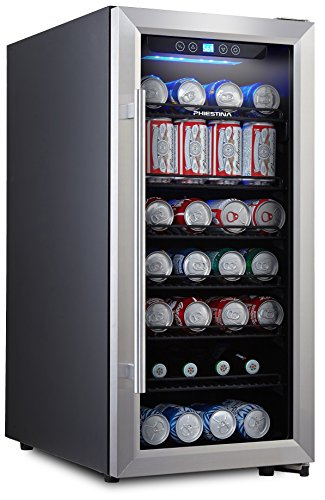 4. Phiestina PH-CBR100 106 Can Beverage Cooler Stainless Steel Door with Handle