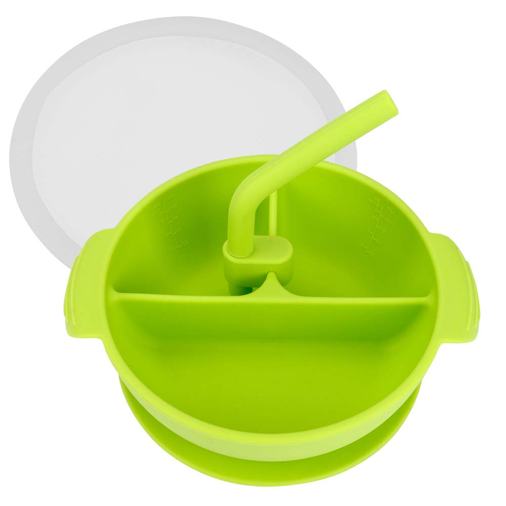 Rutschfester Teller Baby BPA Frei Magic Bowl Silikonsch/üssel mit Saugnapf f/ür Babys Sp/ülmaschinenfest und Mikrowellengeeignet Ertisa Teller mit Saugnapf Silikonteller mit Saugnapf