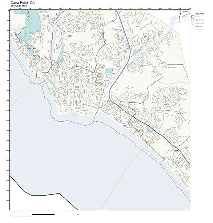 Amazon.com: ZIP Code Wall Map of Dana Point, CA ZIP Code Map