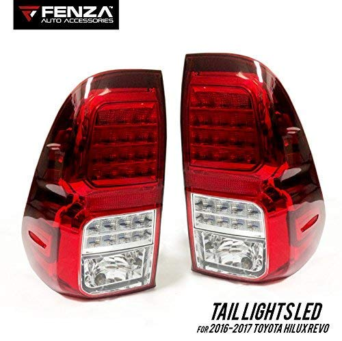 LED Tail Lights Set for 2016-2020 Toyota Hilux Revo Tail Lamp Pair LED  LIGHTS