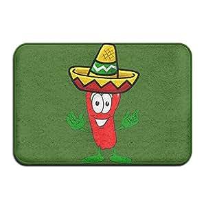 Amazon Com Soft Non Slip Mexican Chili Pepper Bath Mat