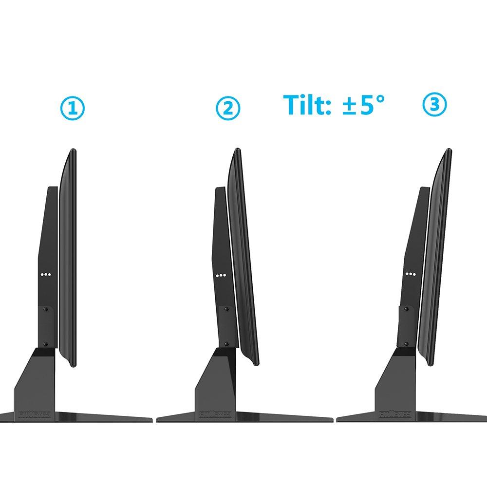 Fitueyes Support Tv Pieds Sur Table Avec Hauteur Ajustable Pour  # A Quelle Hauteur Fixer Une Tv