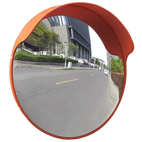 Outdoor Road Traffic Convex PC Mirror Safety & Security, Wide Angle Driveway, 18'' by Mega Product Store
