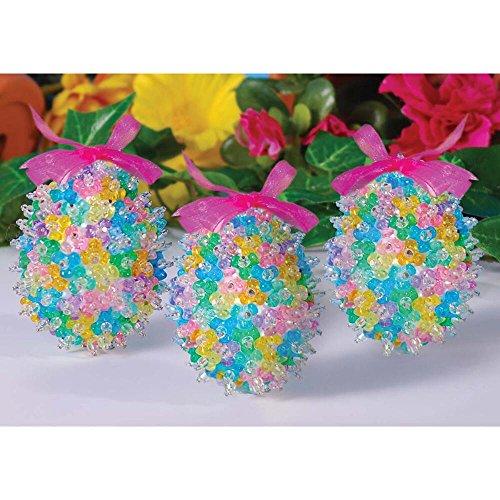 Tri Bead Ornaments - Design Works Tri Bead Eggs Beading Kit
