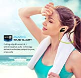 Bluetooth Headphones, TOTU Wireless V4.1 Stereo Noise Isolating Sports Sweatproof Headset with Mic for iPhone 7 Samsung Galaxy S7 and Android Phones [Upgraded Version], Green