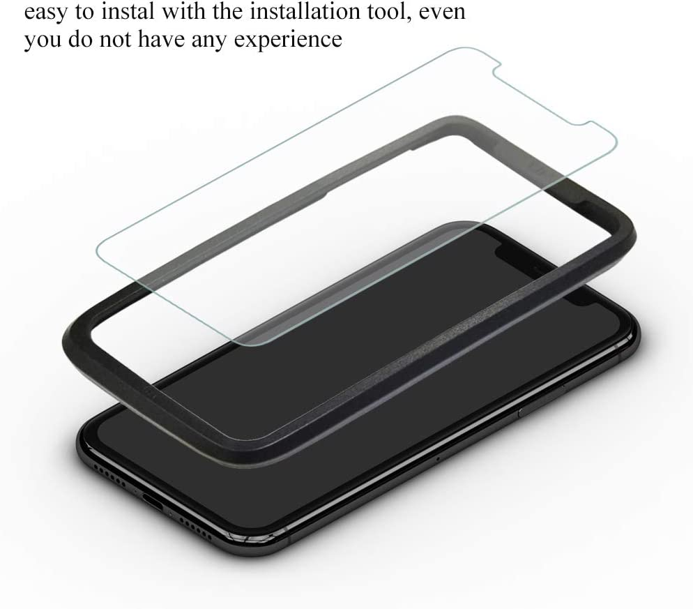 SANFEEL Tempered Glass for iPhone 8 Screen Protector iPhone 7 Film Easy to Install Scratch Proof Fingerprint Free Bubbles 5-Pack