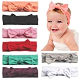 Baby Headbands Turban Knotted, Girl's Hairbands for Newborn,Toddler and Childrens (8Pcs-CL6) Assorted Colors