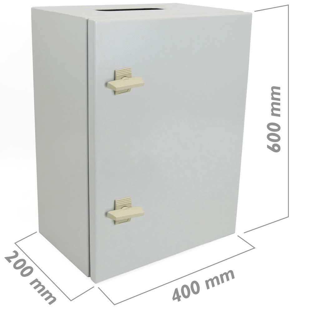 Cablematic Caja de distribuci/ón el/éctrica met/álica con protecci/ón IP65 para fijaci/ón a pared 600x400x200mm