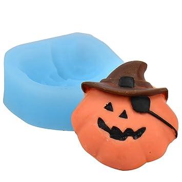 Pirata calabaza farol formas silicona moldes fondant decoración de pasteles herramientas Halloween tema de tartas: Amazon.es: Hogar